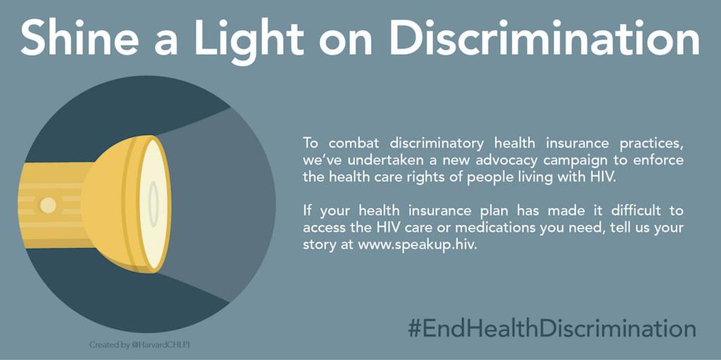 #EndHealthDiscrimination