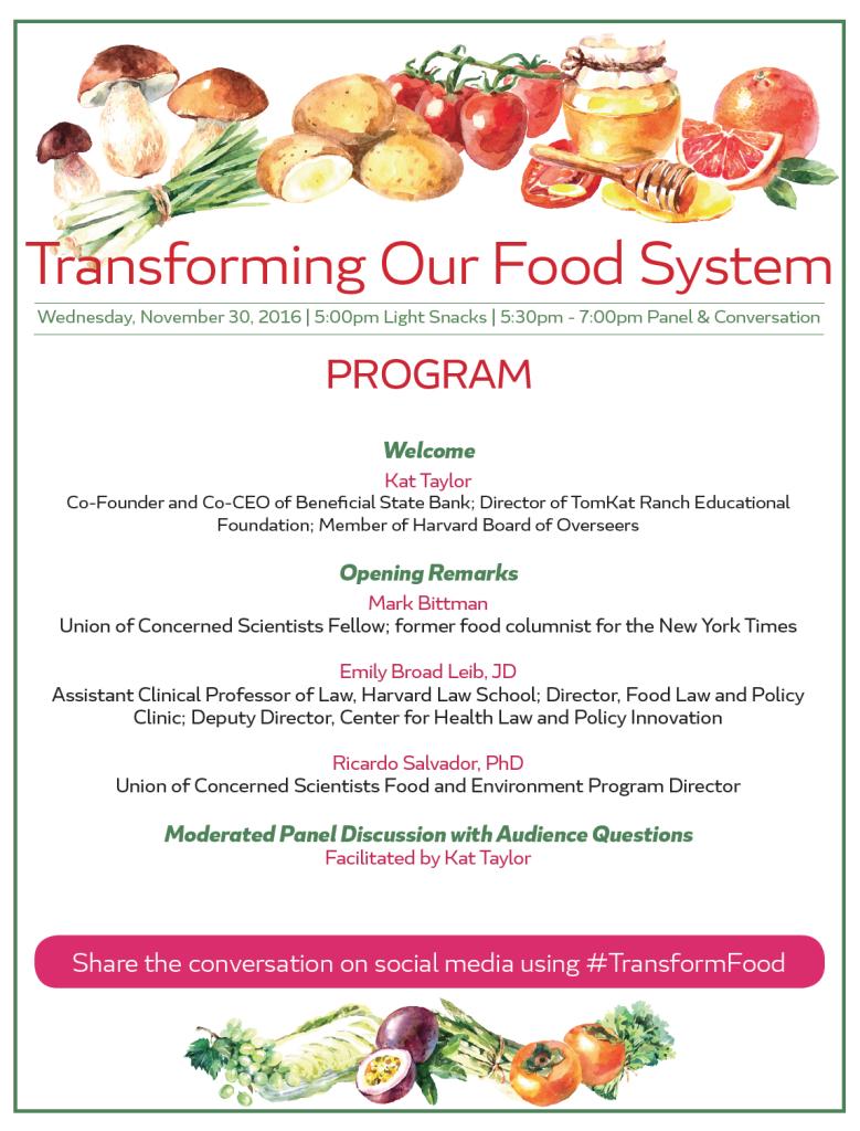 National Food Strategy Program